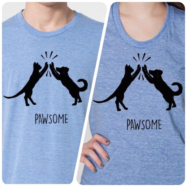 Shop-Living-In-The-Meow-Pawsome-Cat-Dog-Shirt-His-Hers